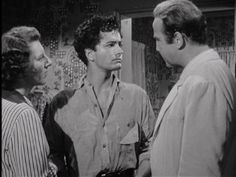 """All the King's Men"" (1949) L-R; Anne Seymour, John Derek, Broderick Crawford"
