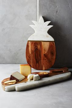 Marble & Acacia Cheese Board #anthrofave