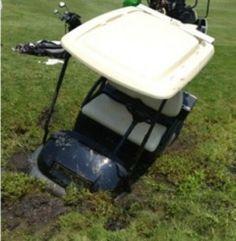 Golf cart #fail