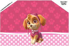 Envelope Convite Patrulha Canina para Meninas
