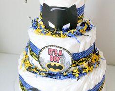 Bat Woman Baby Shower Cake | Bat baby Diaper cake , Batman Diape r cake, bat baby baby shower ...