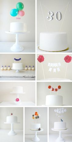 Whimsical toppers in Decoration for babies, children and adults parties, for events such as anniversaries or birthdays or dinners