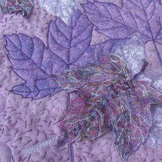 Fibre Art Leaves Purple Art Quilt by KathyKinsella on Etsy, $525.00