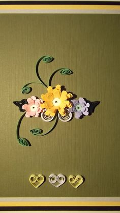 paper quilled card handmade card and by dominiquehandmade on Etsy, $12.00
