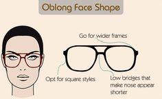 Glasses for oblong face shape