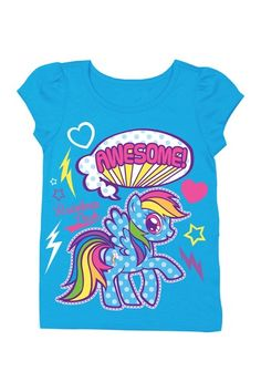 My Little Pony Rainbow Awesome Tee (Toddler Girls) by FREEZE on @HauteLook