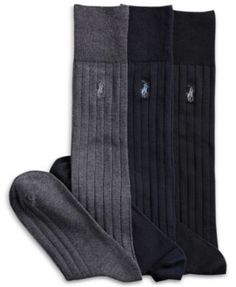 POLO RALPH LAUREN Polo Ralph Lauren 3 Pack Over The Calf Dress Men S Socks.    0572aa720092