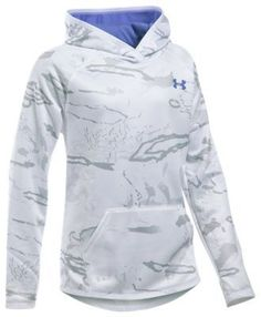 Under Armour Icon Camo Hoodie for Girls - Ridge Reaper Snow - XS