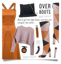 """""""Fall Footwear: Over-The-Knee Boots"""" by marina-volaric ❤ liked on Polyvore featuring Gianvito Rossi, Chicnova Fashion, SONOMA Goods for Life, Illuminum, MAC Cosmetics, Cristabelle and Boots"""