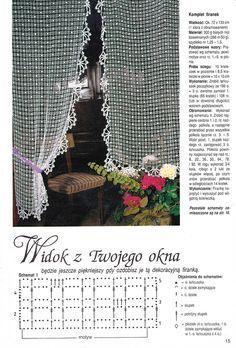 Crochet curtain … More: Crochet Curtain Pattern, Crochet Curtains, Curtain Patterns, Lace Curtains, Crochet Motifs, Thread Crochet, Crochet Doilies, Crochet Lace, Crochet Patterns