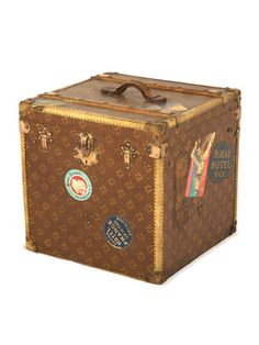 Antique Trunk with vintage hotel stickers from the Jayson Home Fall Flea Market.
