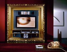 Mobile Porta tv, parete attrezzata, porta lcd, porta tv led, barocco oro foglia Tv stand, tv rack, tv wall stand, baroque gold leaf Luxury furniture Made in italy mod.the frame home cinema baroque #tvrack #tvstand #baroque #gold #homeliving #interiordesign #luxuryfurniture