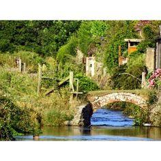 Little stone bridge over the river Frome, Dorchester, Dorset