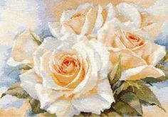 Counted Cross Stitch Kit ALISA -  White Roses