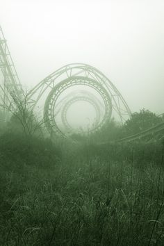abandoned amusement park, hauntingly beautiful..