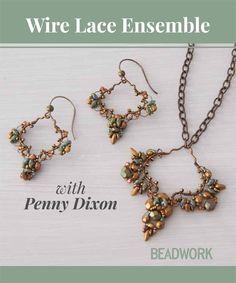 Wire Lace Ensemble with Penny Dixon Video Download   InterweaveStore.com