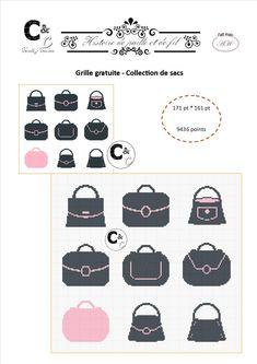 Grille gratuite - Collection de sacs en noir et rose