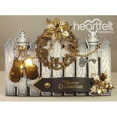 Heartfelt Creations - Golden Wreath And Gate Project