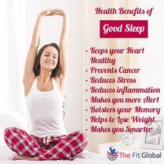 Health benefits of Good Sleep #sleep #heart #weightloss #memory #thefitglobal