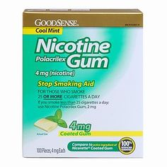 I'm learning all about Good Sense Nicotine Polacrilex Coated Gum at @Influenster!