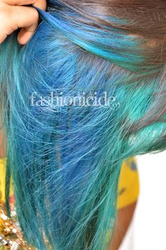 Gallery For > Light Brown Hair With Blue Underneath