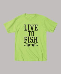 Take a look at this Key Lime 'Live To Fish' Tee - Toddler & Boys by Country Casuals on #zulily today!
