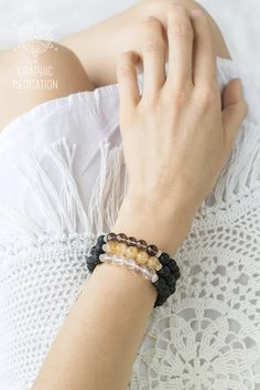 This lava rock bracelet with crystal quartz and silver is great for daily wear. It provides protective and grounding effect, increases awareness and clarity by calming the mind.  DETAILS: • Length: 6 to 8 inches (15 - 20.5 cm). Width: 8mm. Please select or write you size preference while checking out. • Materials: natural lava stone, natural crystal quartz stone and 925 sterling silver; • All beads are strung on a strong stretch cord, to adjust your wrist size. • Delivered to you in an…