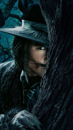Johnny Depp The Wolf Into the Woods. He was so creepy that he was so good in this movie.