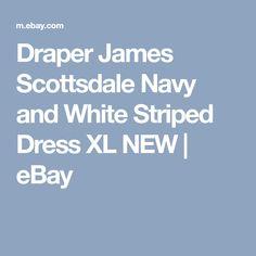 Draper James Scottsdale Navy and White Striped Dress XL NEW   eBay