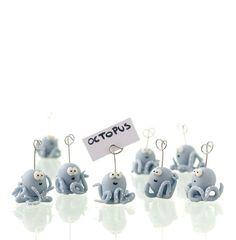 9 Handmade Cold Porcelain Octopus Place Card by MaisEPoiMais