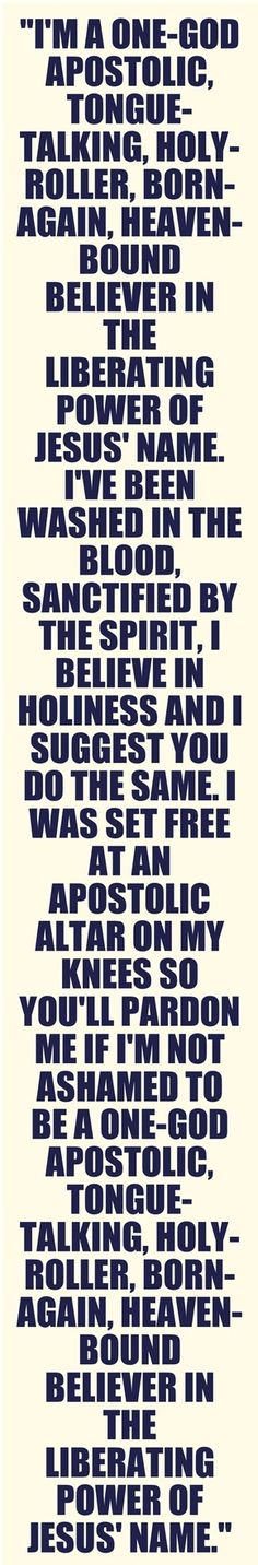 I'm proud to be Apostolic! And also proud to know the man that wrote this song!:)