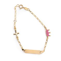 Παιδικό  βραχιόλι ταυτότητα  χρυσό Κ14  1462 Jewels, Bracelets, Gold, Jewerly, Bracelet, Gemstones, Fine Jewelry, Gem, Arm Bracelets