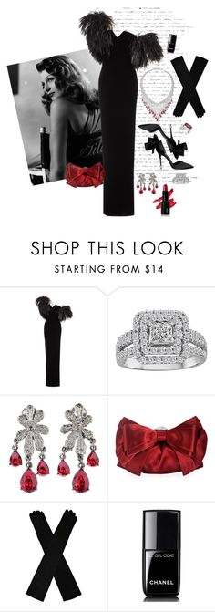 """H938"" by saltless ❤ liked on Polyvore featuring Oscar de la Renta, Judith Leiber and Chanel"
