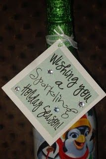 """Lots of super cute gift ideas with really cute tag ideas. Like this one and one for chex mix that says """"Santa CHEX his list twice to see whose been naughty or nice."""""""