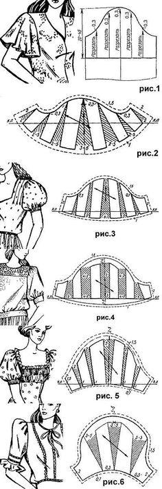 Моделирование коротких рукавов: фонарик, волан, с буфами   pokroyka.ru-уроки кроя и шитья