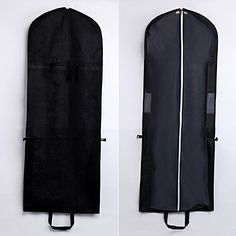 Black foldable garment bag with handle,measured 150*58*8 cm,for bridal gown & bridesmaids dress