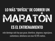 Lo difícil de correr un maratón