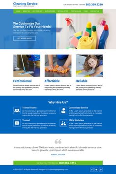 Home Cleaning Services Responsive Website Design Html Templates Company