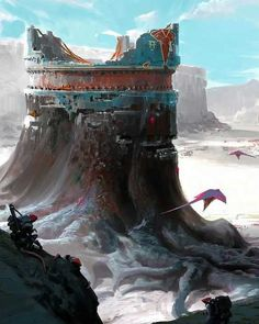 ArtStation - Pilgrimage to the Vaettir Tomb, Garrett Post Fantasy Artwork, Fantasy Concept Art, Sci Fi Fantasy, Fantasy World, Landscape Concept, Fantasy Landscape, Landscape Art, Environment Concept, Environment Design