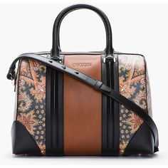 GIVENCHY Brown New Line Printed Paisley Bag ($1,990) ❤ liked on Polyvore