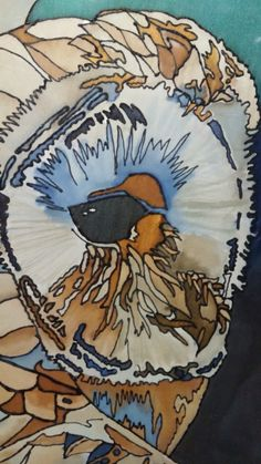 Barn Owl Face, Tracy Harris, Silk Painting Artist