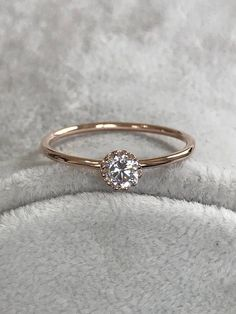 Ringe Rotgold Birthstone Ring Verlobungsring Ehering Promise Ring Jubiläumsring Gold Deilcate Ring