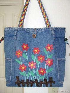 Как сшить джинсовую сумку из старых джинс ?