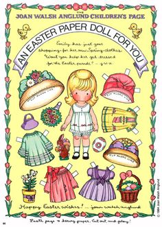 Free Easter paper dolls