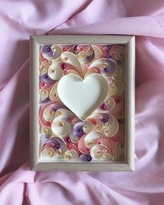 Excited to share this item from my shop: Quilling card - Quilled heart - Wedding Anniversary gift - Handmade Greeting Card - Card for her - I Love you Card - Gift for wife Arte Quilling, Paper Quilling Cards, Quilling Work, Paper Quilling Patterns, Quilling Paper Craft, Paper Quilling For Beginners, Quilling Techniques, Quilling Tutorial, Handmade Greetings