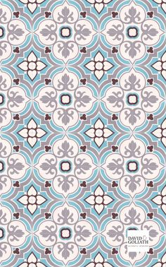 The cement tiles from David&Goliath are still made entirely by hand - just as they were 100 years ago.Our cement tiles are of very high quality, making them suitable for kitchens or bathrooms. Tile Patterns, Textures Patterns, Fabric Patterns, Print Patterns, Batik Pattern, Pattern Art, Pattern Design, Decoupage Vintage, Motif Art Deco