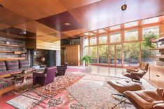 """4 Frank Lloyd Wright Homes for Sale (and They're Awesome) - https://freshome.com/frank-lloyd-wright-homes-for-sale...This is the priciest of the Frank Lloyd Wright homes for sale, but it sits above a waterfall! """"Tirranna"""" is the Aboriginal word for """"running waters."""" The home is set in 15 acres of New Canaan woodland. It features seven bedrooms and eight bathrooms, and is listed for $7.2 million. The U-shaped design with glass walls showcasees the stunning gardens, all created by Frank…"""