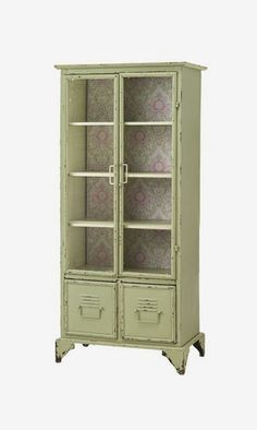 Vintage Blossoms Tall Cabinet