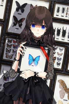 Fl my account ( Hạnh Lee 🌻)to see more best pic about Anime 🎏🎐🎎 Manga Girl, Chica Anime Manga, Kawaii Anime Girl, Anime Art Girl, Anime Girls, Beautiful Anime Girl, Anime Love, Anime Butterfly, Photo Manga