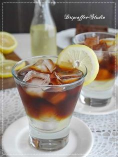 Iced lemon coffee